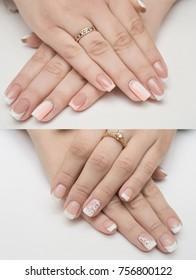 Nails acryl hands