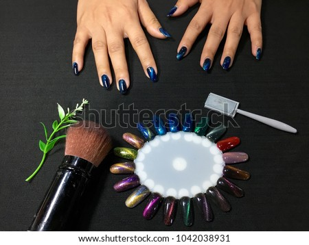 Nails Art Beautifully Manicured Nails On Stock Photo Edit Now