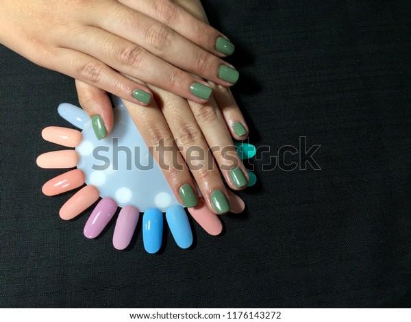 Nails Art Stylish Manicure Nail Art Stock Photo (Edit Now) 1176143272