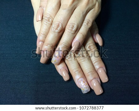 Nails Art Woman Manicure Nude Style Stock Photo Edit Now