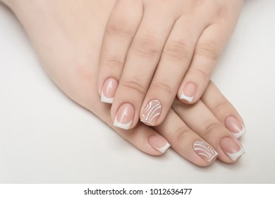 nails french, manicure, arms, background, beauty, body