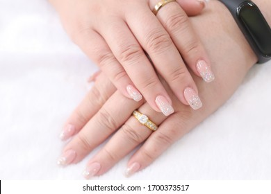 Nails gel polish painting fingernails