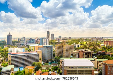 Nairobi city center - capital city of Kenya, East Africa
