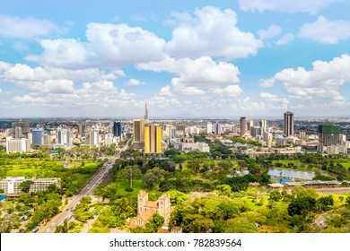 Nairobi city center - capital city of Kenya, East Africa