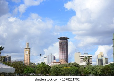 Nairobi, Kenya -11/4/2018: Nairobi Skyline beautiful skyscrappers