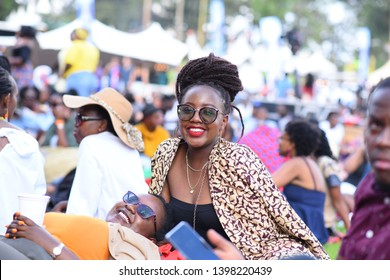 Nairobi, Kenya -11/4/2018: Young people enjoying a summer music, food and drinks event, Blankets and Wine in Nairobi, Kenya, East Africa.