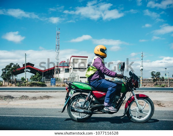 Nairobi Kenya 9022018 Motorcycle Taxi City Stock Photo (Edit Now