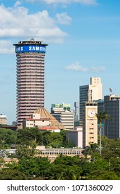 Nairobi, Kenya - December 24: The Kenyatta International Conference Centre, one of the few modern skyscrapers in the business district of Nairobi, Kenya on December 24, 2015