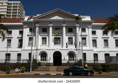 NAIROBI, KENYA - JAN 12: City hall on January 12, 2009 in Nairobi, Kenya. Nairobi is situated about 1661 meters above sea level and it is the most populous city in East Africa.