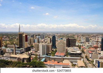 Nairobi skyline, the capital of Kenya