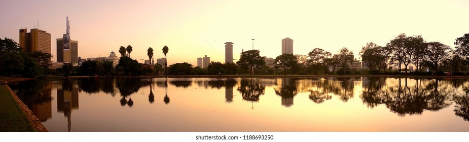 Nairobi Skyline reflection
