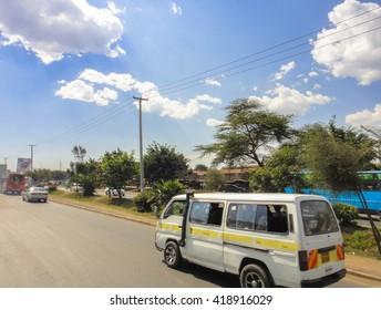 NAIROBI/KENYA - SEPTEMBER 15 2013: On the street of Nairobi. Eastern Africa