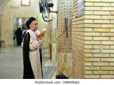 NAJAF, IRAQ - MAY  22: Street of Najaf and daily life on May  22, 2012 in Najaf, Iraq. The holy tomb of imam Ali.