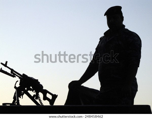 NAJAF, IRAQ - MAY  22: Street of Najaf and daily life on May  22, 2012 in Najaf, Iraq. The holy tomb of imam Ali. Iraq provide security military