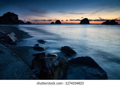 Nakabayashi coast at the dawn of winter