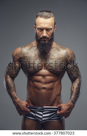 Think, Men with beards tattoos and muscles mine