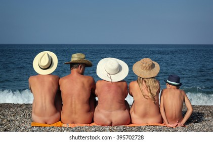 Nudist Family Beach Fun
