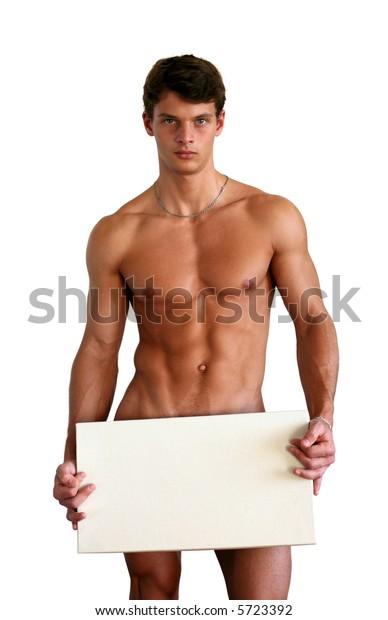 Naked young asian man