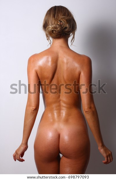 Naked Natural Woman Oiled Body Healthy Stock Photo Edit -4949