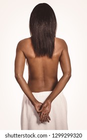 Naked smoth back of afro american woman