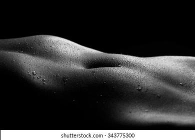 Naked stomach