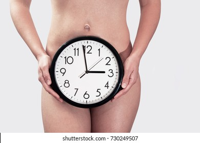 Naked woman. Abstract photo of female health.
