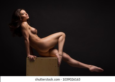 Something is. Girl in stocks nude unexpectedness!