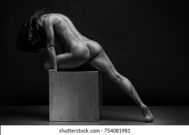 Something and Nude fitness women black and white photography all