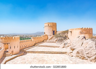 Nakhal Fort in Al Batinah Region of Oman. It is located about 120 km to the west of Muscat, the capital of Oman and is known as Qal'a Nakhal or Husn Al Heem.