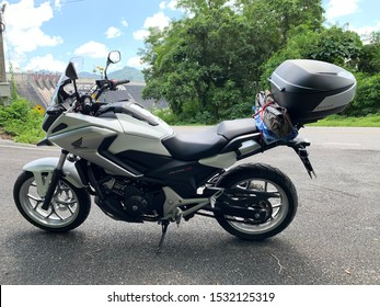 Nakhon Nayok, Thailand. October 14, 2019 : Motorbike big bike Honda NC750X, 2017 Year. Used as vehicle in the trip to the travel.
