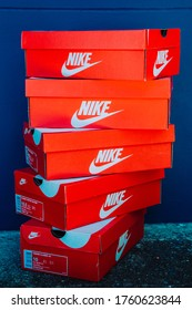 NAKHON PATHOM, THAILAND-MAY 31, 20120 :Nike box shoes, Nike, Inc. is an American multinational corporation that designs, develops, manufactures and sells footwear and other items