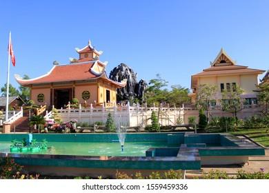 Nakhon Phanom Province, Thailand, 18 January, 2018:Memorial President Ho Chi Minh at the Ban Na Chok Nakhon Phanom, Thailand.