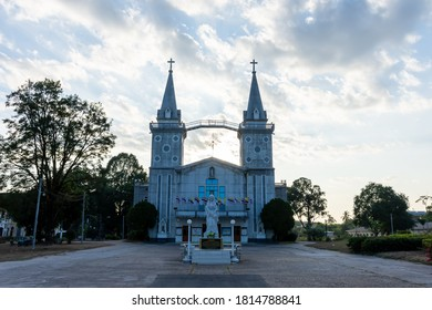 Nakhon Phanom, Thailand - 28 Dec 2019: Saint Anna Nong Saeng Temple (Vice St. Anna's Cathedral) is an old church of Christianity used for religious rituals. And is a tourist destination of Nakhon Phan