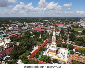 Nakhon Phanom, Thailand 30 Sep 2020:Phra That Phanom an ancient chedi covered is located along the Mekong River.Nakhon Phanom Province, Thailand