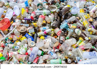 NAKHON PHANOM, THAILAND - JUNE 25: Recycle Waste in Municipal waste disposal by open dump procese.  Dump site at Nakonpanom on JUNE 25, 2015 in NAKHON PHANOM PROVINCE THAILAND