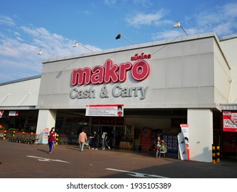 Nakhon Phanom, Thailand - March 7, 2021 : Makro Cash and Carry department store at Nakhon Phanom. Makro in Asia ownership by CP ALL.