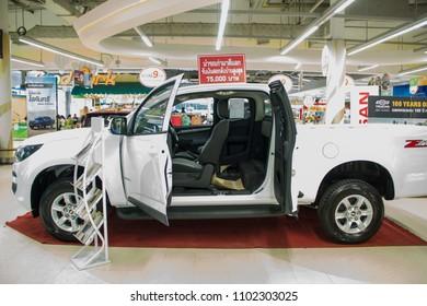 Nakhon Phanom , Thailand. May 29,2018 : Chevrolet Colorado ZR2  in Motorshow 2018 at Big C  Nakhon Phanom,Thailand.