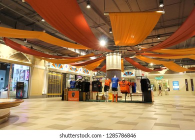 Nakhon Ratchasima Province Thailand , January 06 - 2019 : Sport shop At the Terminal 21 Korat shopping mall