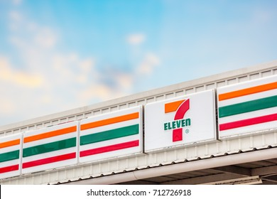 Nakhon Ratchasima, THAILAND - Aug 29, 2017 : 7-Eleven, convenience store with largest number of outlets in Thailand.