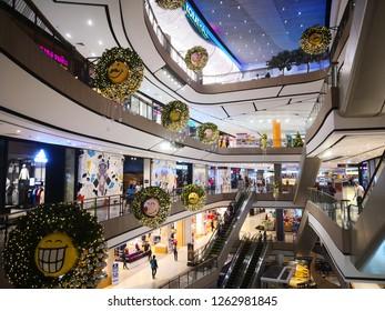 NAKHONRATCHASIMA, THAILAND - 20 DECEMBER 2018 : Central Nakhonratchasima is the largest shopping mall in Nakhonratchasima.