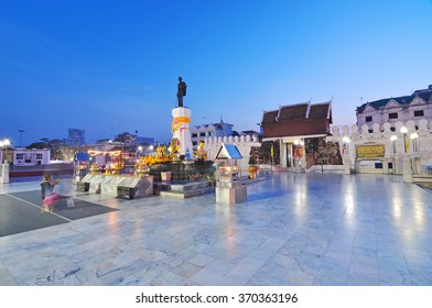 NAKHONRATCHASIMA THAILAND - JANUARY 8, 2014 : Thao Suranaree (Yamo) Monument  is a monument built to remember and honor the goodness.  It is on Chumpol Road, Nakhonratchasima, Thailand
