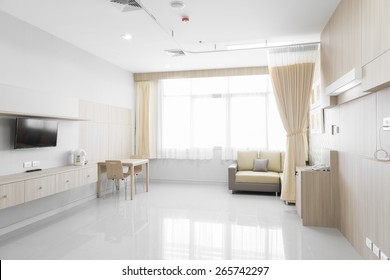 NAKHONRATCHASIMA, THAILAND - November 15, 2014: Interior of new empty in hospital room, November 15, 2014 in Nakhonratchasima, Thailand.