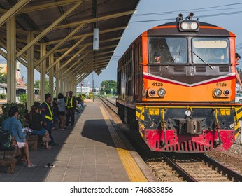 Nakhonratchasima, Thailand - October 31, 2017-  Jira Road Junction Station is a popular railroad station in Nakhon Ratchasima because of the free train at some time.