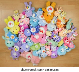 NAKORN PATHOM, THAILAND - MAR 5, 2016: The Care Bears are a group of multi-colored bear characters. The original artwork was painted by artist Elena Kucharik for American Greetings Corporation.
