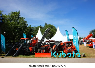 NAKORNPATHOM,THAILAND-13 DECEMBER ;2017 : The Agricultural machinery and equipment Show in Kasetsart University