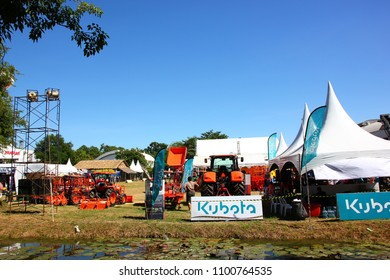 NAKORNPATHOM,THAILAND-3 DECEMBER;2017:The Agricultural machinery show at Kasetsart  University