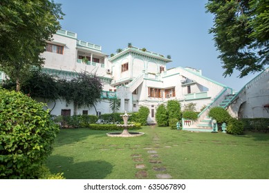NALAGARH, INDIA - September 12, 2016: Architecture view of Nalagarh Palace now converted in Heritage Resort, Nalagarh, Himachal Pradesh, India, Southeast Asia.