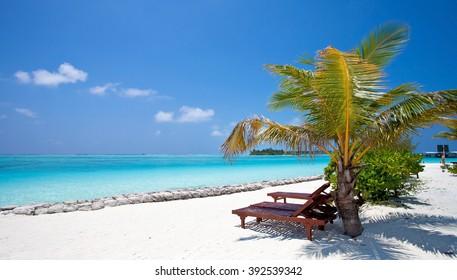 Nalaguraidhoo Island in Maldive Islands, Indian Ocean