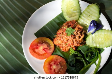 Nam Prik Aong or Northern Thai Meat and Tomato Spicy
