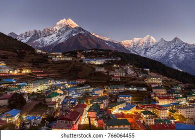 Namche Bazaar, Everest trek, Himalaya, Nepal